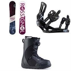 Rossignol Gala Snowboard + Rossignol Gala Snowboard Bindings + Ride Harper Snowboard Boots - Women's 2020