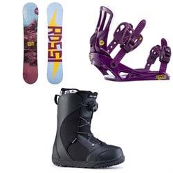 Rossignol Myth Snowboard + Rossignol Myth Snowboard Bindings + Ride Harper Snowboard Boots - Women's 2020
