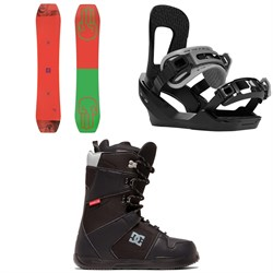 Bataleon Wallie Snowboard ​+ Switchback Destroyer Snowboard Bindings ​+ DC Phase Snowboard Boots