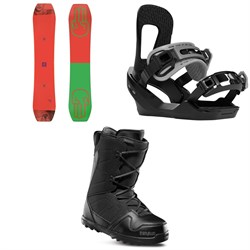 Bataleon Wallie Snowboard ​+ Switchback Destroyer Snowboard Bindings ​+ thirtytwo Exit Snowboard Boots