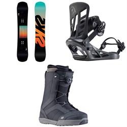 K2 Afterblack Snowboard + Indy Snowboard Bindings + Raider Snowboard Boots