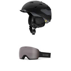 Smith Quantum MIPS Helmet + Giro Lusi Goggles - Women's