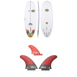 Lib Tech x Lost Freak Flag Bean Bag Surfboard ​+ Lib Tech Twin ​+ Trailer Fin Set