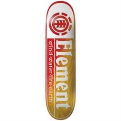 Element Section Yellow Red 8.5 Skateboard Deck