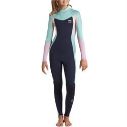 Billabong 4/3 Synergy Back Zip Wetsuit - Girls'
