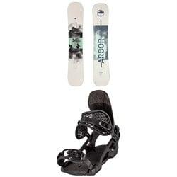 Arbor Draft Camber Snowboard + Spruce Snowboard Bindings 2021