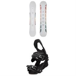 Arbor Poparazzi Rocker Snowboard - Women's + Sequoia Snowboard Bindings - Women's 2021
