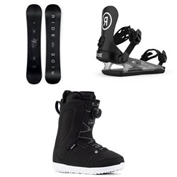 Ride Saturday Snowboard ​+ CL-4 Snowboard Bindings ​+ Sage Snowboard Boots - Women's 2021