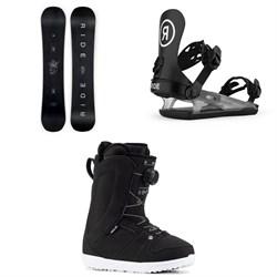 Ride Saturday Snowboard + CL-4 Snowboard Bindings + Sage Snowboard Boots - Women's 2021