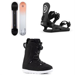 Ride Compact Snowboard + CL-2 Snowboard Bindings + Sage Snowboard Boots - Women's 2021