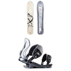 Rossignol XV Sashimi LG White Label Snowboard + XV Snowboard Bindings 2020