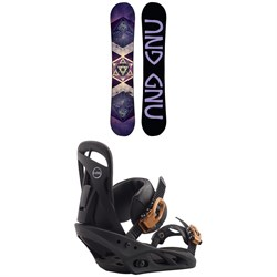GNU Asym Ladies Choice C2X Snowboard ​+ Burton Scribe Snowboard Bindings - Women's