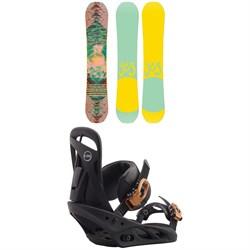 Yes. Emoticon Snowboard + Burton Scribe Snowboard Bindings - Women's