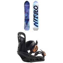 Nitro Drop Snowboard + Burton Scribe Snowboard Bindings - Women's