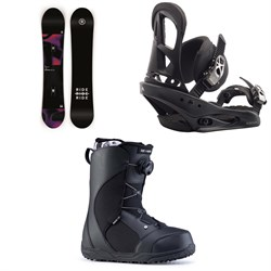 Ride Compact Snowboard + Burton Stiletto Snowboard Bindings + Ride Harper Snowboard Boots - Women's