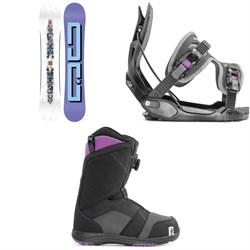 DC Biddy Snowboard + Flow Haylo Snowboard Bindings + Nidecker Maya Boa Snowboard Boots - Women's 2020