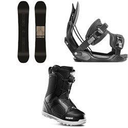 Arbor Formula Rocker Snowboard ​+ Flow Alpha Snowboard Bindings ​+ thirtytwo STW Boa Snowboard Boots
