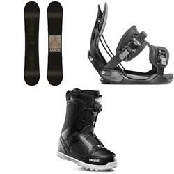 Arbor Formula Rocker Snowboard + Flow Alpha Snowboard Bindings + thirtytwo STW Boa Snowboard Boots
