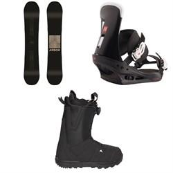 Arbor Formula Rocker Snowboard 2020 + Burton Freestyle Snowboard Bindings 2020 + Moto Boa Snowboard Boots 2018