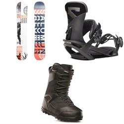 Salomon Sleepwalker X Snowboard 2020 + Trigger X Snowboard Bindings 2020 + thirtytwo Prion Snowboard Boots 2019