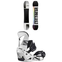 Salomon Huck Knife Snowboard + Hologram Snowboard Bindings 2021