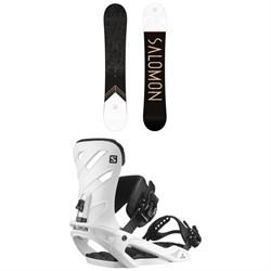 Salomon Sight Snowboard + Rhythm Snowboard Bindings 2021