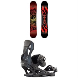 Jones Mountain Twin Snowboard + Now Pilot Snowboard Bindings 2021