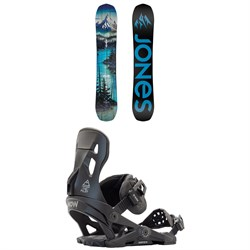 Jones Frontier Snowboard + Now Pilot Snowboard Bindings 2021