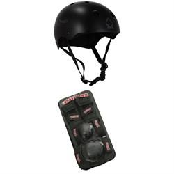 Pro-Tec Classic Skate Skateboard Helmet + Bullet Pad Set