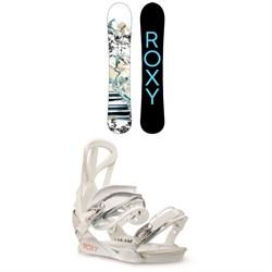 Roxy Smoothie C2 Snowboard + Team Snowboard Bindings - Women's 2021