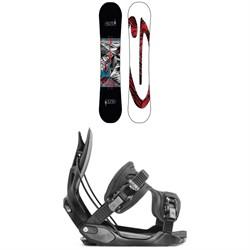 GNU Carbon Credit Asym BTX Snowboard + Flow Alpha Snowboard Bindings