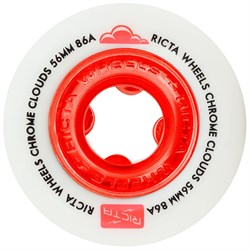 Ricta Chrome Clouds Red 86a Skateboard Wheels