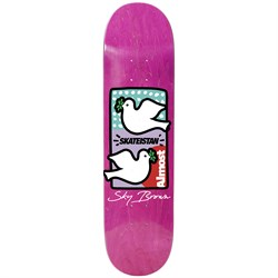 Almost Sky Brown Skateistan Double Dove R7 7.75 Skateboard Deck