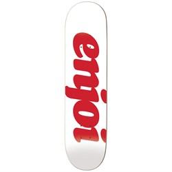 Enjoi Flocked HYB White 8.0 Skateboard Deck