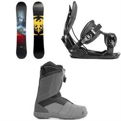 Never Summer Snowtrooper Snowboard 2019 + Flow Alpha Snowboard Bindings 2019 + Nidecker Ranger Boa Snowboard Boots