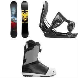 Never Summer Snowtrooper Snowboard 2019 + Flow Five Fusion Snowboard Bindings 2019 + Nidecker Aero Boa Coiler Snowboard Boots