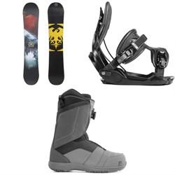 Never Summer Snowtrooper X Snowboard 2019 + Flow Alpha Snowboard Bindings 2019 + Nidecker Ranger Boa Snowboard Boots