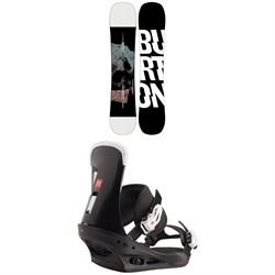 Burton Instigator Snowboard + Freestyle Snowboard Bindings 2021