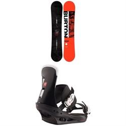 Burton Ripcord Snowboard + Freestyle Snowboard Bindings 2021