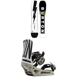 Burton Custom Flying V Snowboard + Cartel X EST Snowboard Bindings 2021