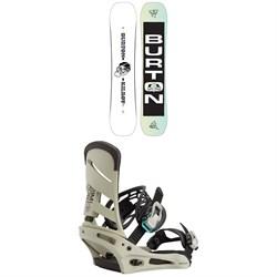 Burton Kilroy Twin Snowboard + Mission Snowboard Bindings 2021