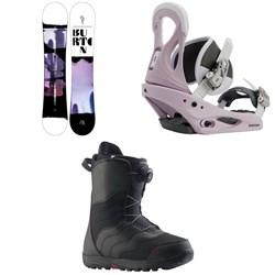 Burton Stylus Snowboard + Citizen Snowboard Bindings + Mint Boa Snowboard Boots - Women's 2021