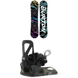 Burton Chopper Snowboard + Grom Snowboard Bindings - Kids' 2021
