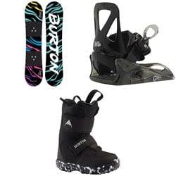 Burton Chopper Snowboard + Grom Snowboard Bindings + Mini Grom Snowboard Boots - Little Kids' 2021