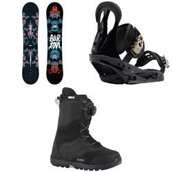 Burton Stylus Snowboard  + Citizen Snowboard Bindings 2019 + Mint Boa Snowboard Boots - Women's 2018