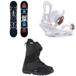 Burton Stylus Snowboard  + Stiletto Snowboard Bindings - Women's  + Mint Boa Snowboard Boots - Women's 2018