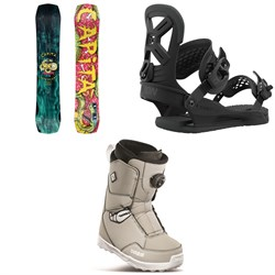 CAPiTA Children Of The Gnar Snowboard ​+ Union Cadet Pro Snowboard Bindings ​+ thirtytwo Youth Lashed Crab Grab Boa Snowboard Boots - Kids' 2021