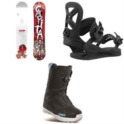 CAPiTA Scott Stevens Mini Snowboard + Union Cadet Pro Snowboard Bindings + thirtytwo Kids Boa Snowboard Boots - Kids' 2021