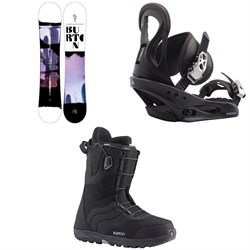 Burton Stylus Snowboard + Citizen Snowboard Bindings + Mint Snowboard Boots - Women's 2021
