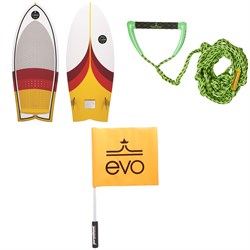 Connelly Cuda Wakesurf Board 2020 ​+ Proline x evo LGS Surf Rope ​+ Free evo Safety Flag